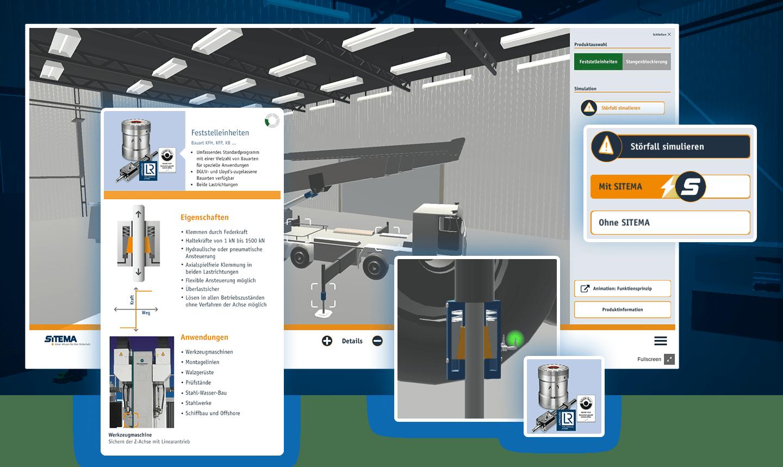 Sales-App in 3D für SITEMA GmbH & Co. KG
