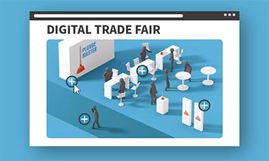 Organize and plan digital trade fair