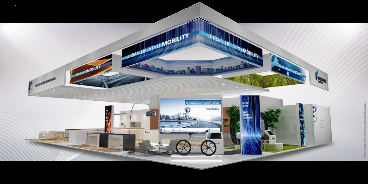 Messestand auf der IAA 2019 für Rheinmetall Automotive AG