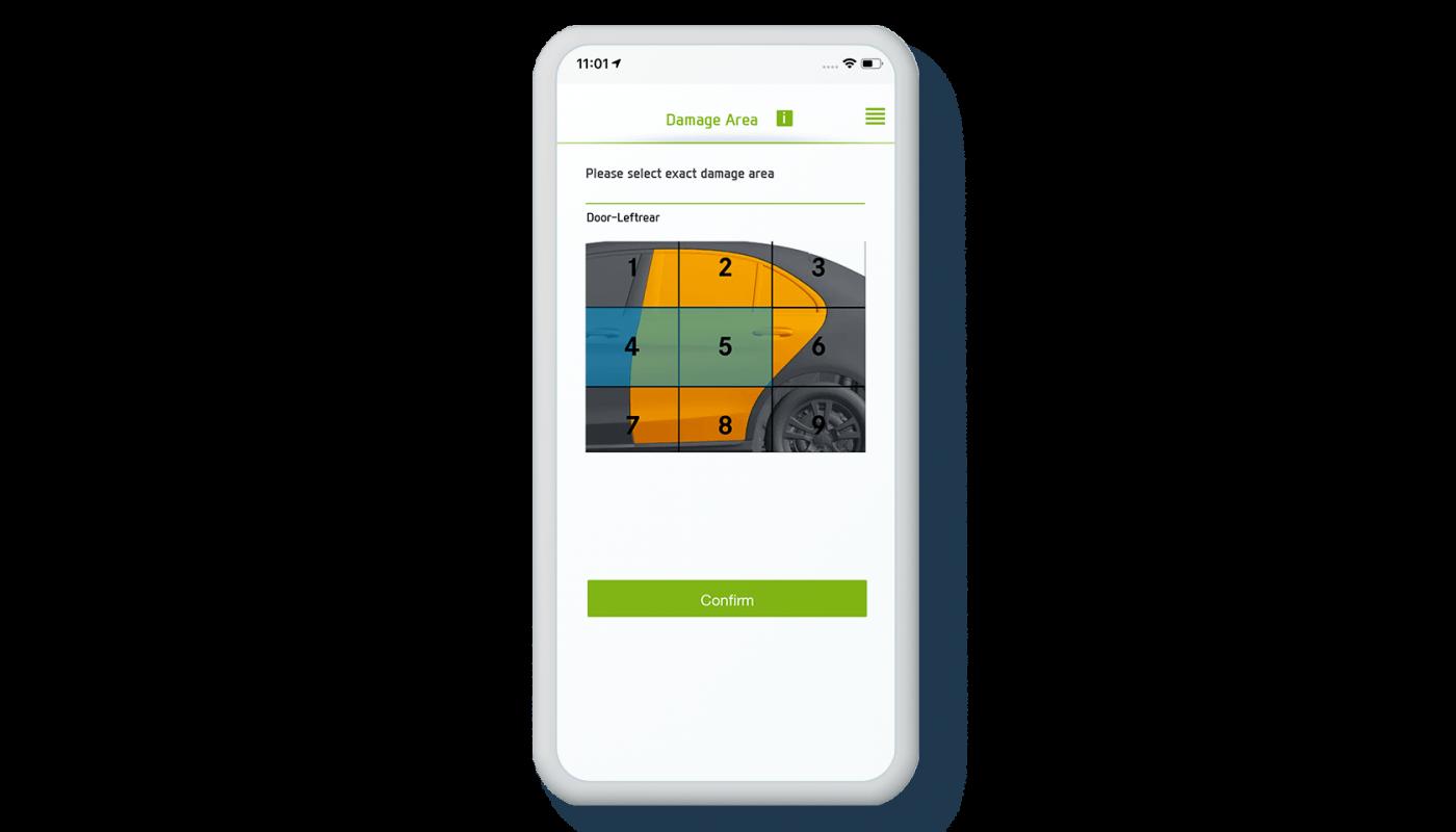 Mobile App zur digitalen Schadenserfassung