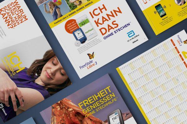 Markenkommunikation durch Printprodukte für Abbott GmbH