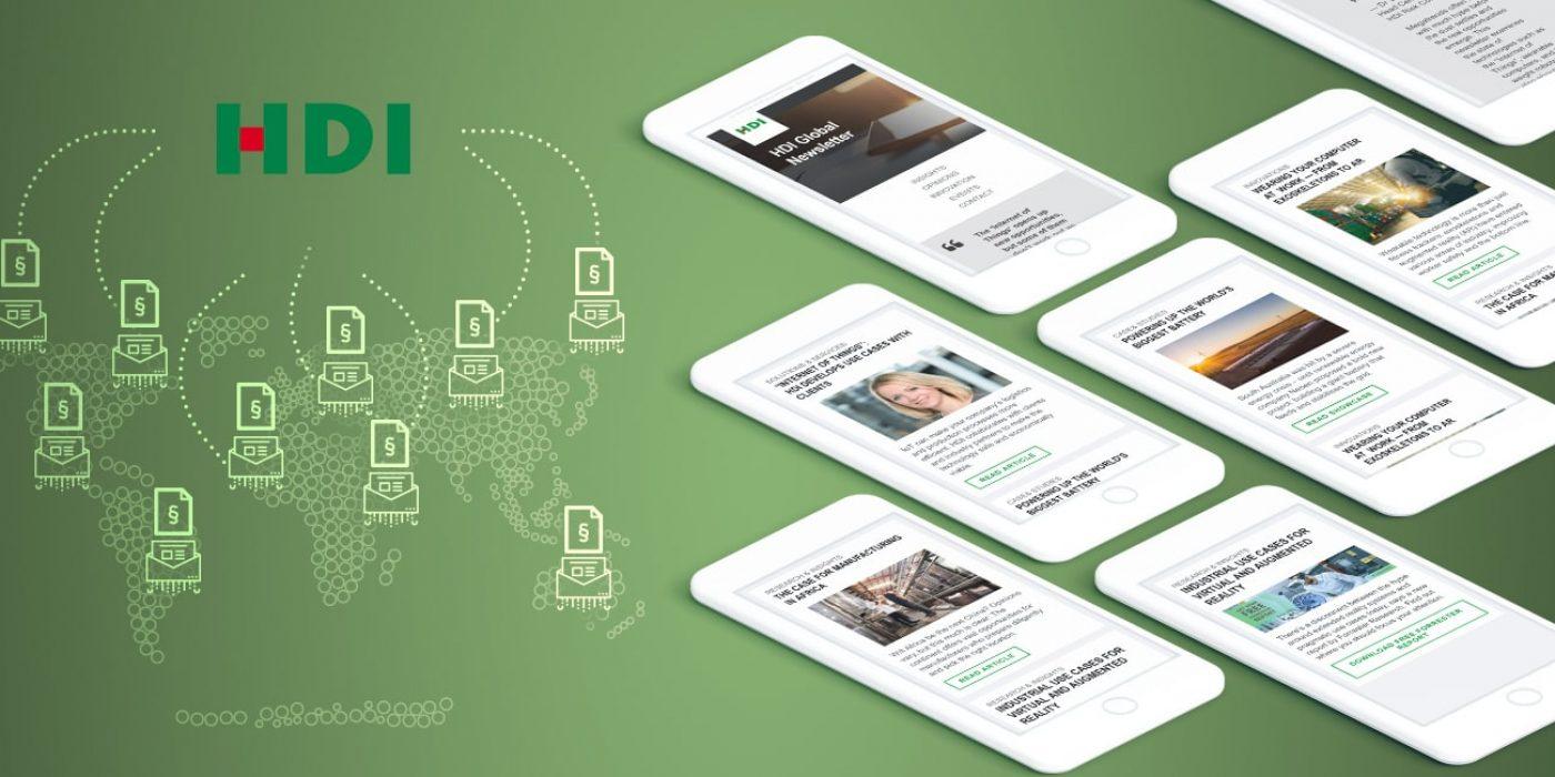 Globale Newsletter-Kampagne mit Marketing Automation für HDI Versicherungen
