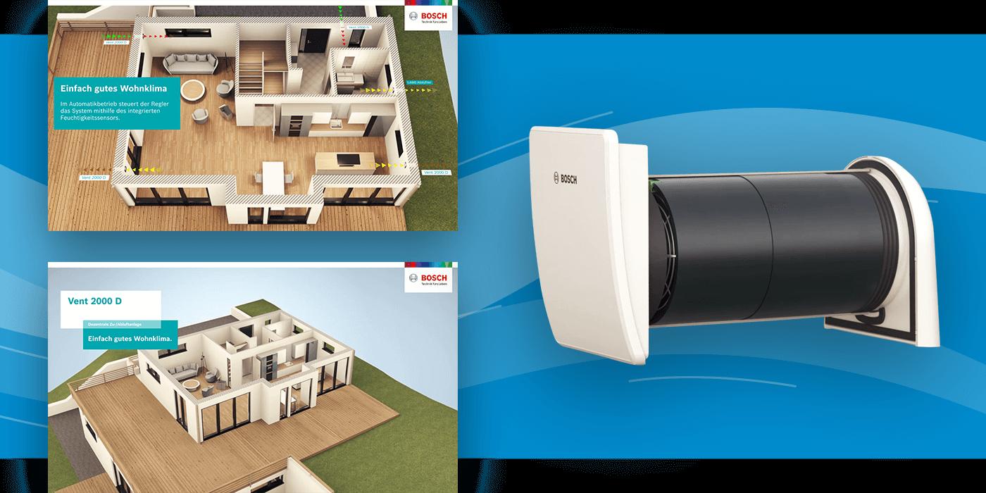 3d Produktvisualisierungen für Bosch TT