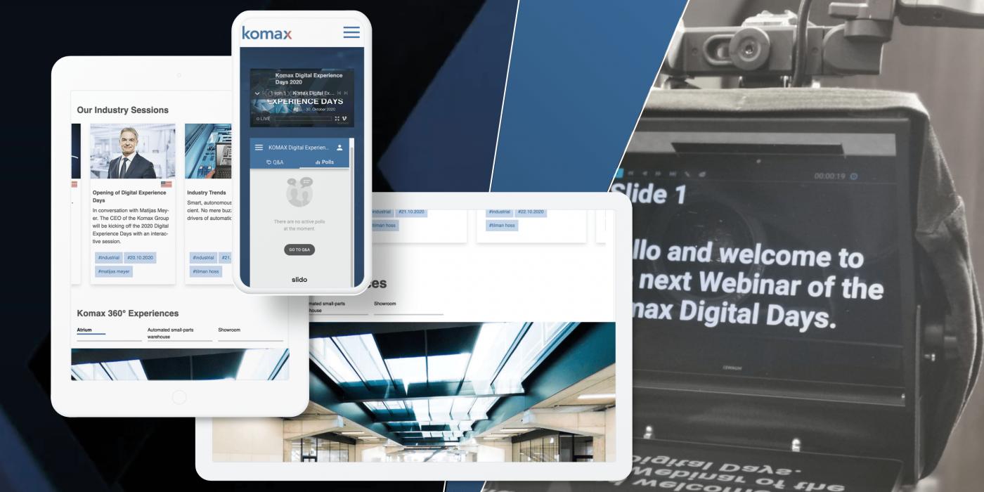 9 Tage Livestreaming bei den Digital Experience Days von Komax Holding AG