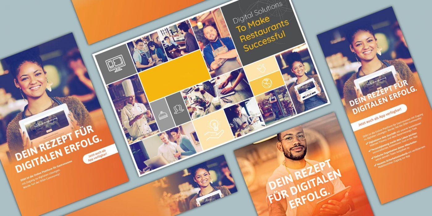 Printprodukte wie Flyer und Broschüren stärken Kampagne zur Steigerung der Bekanntheit
