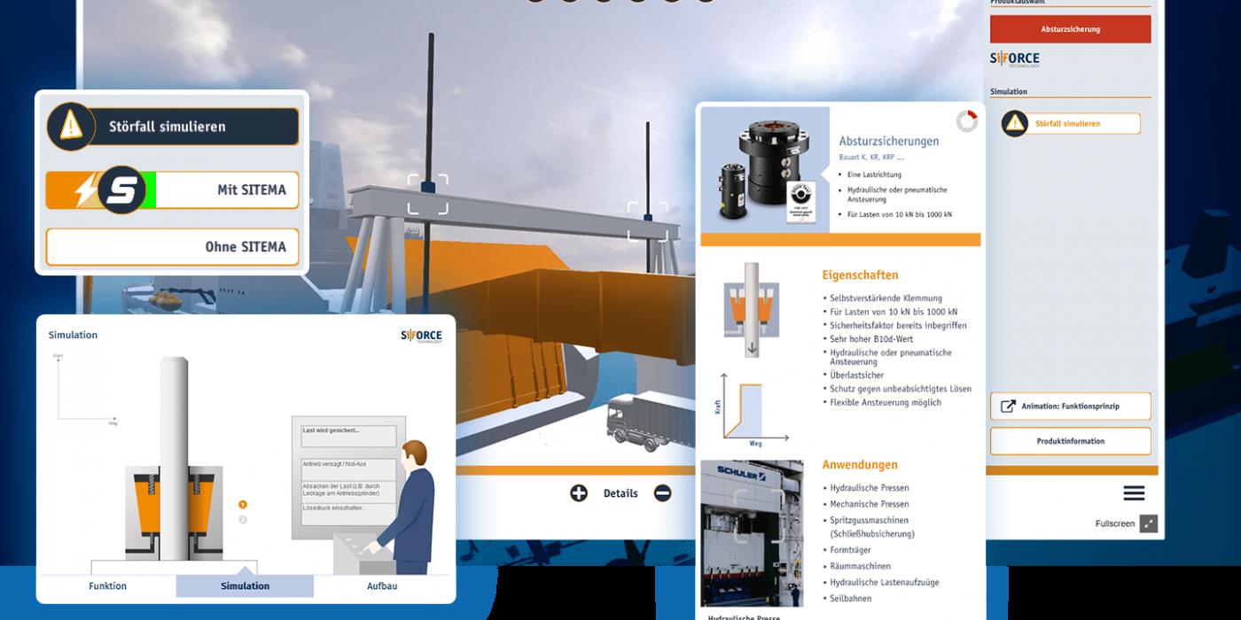 3D Visualisierungen in einer App für SITEMA GmbH & Co. KG