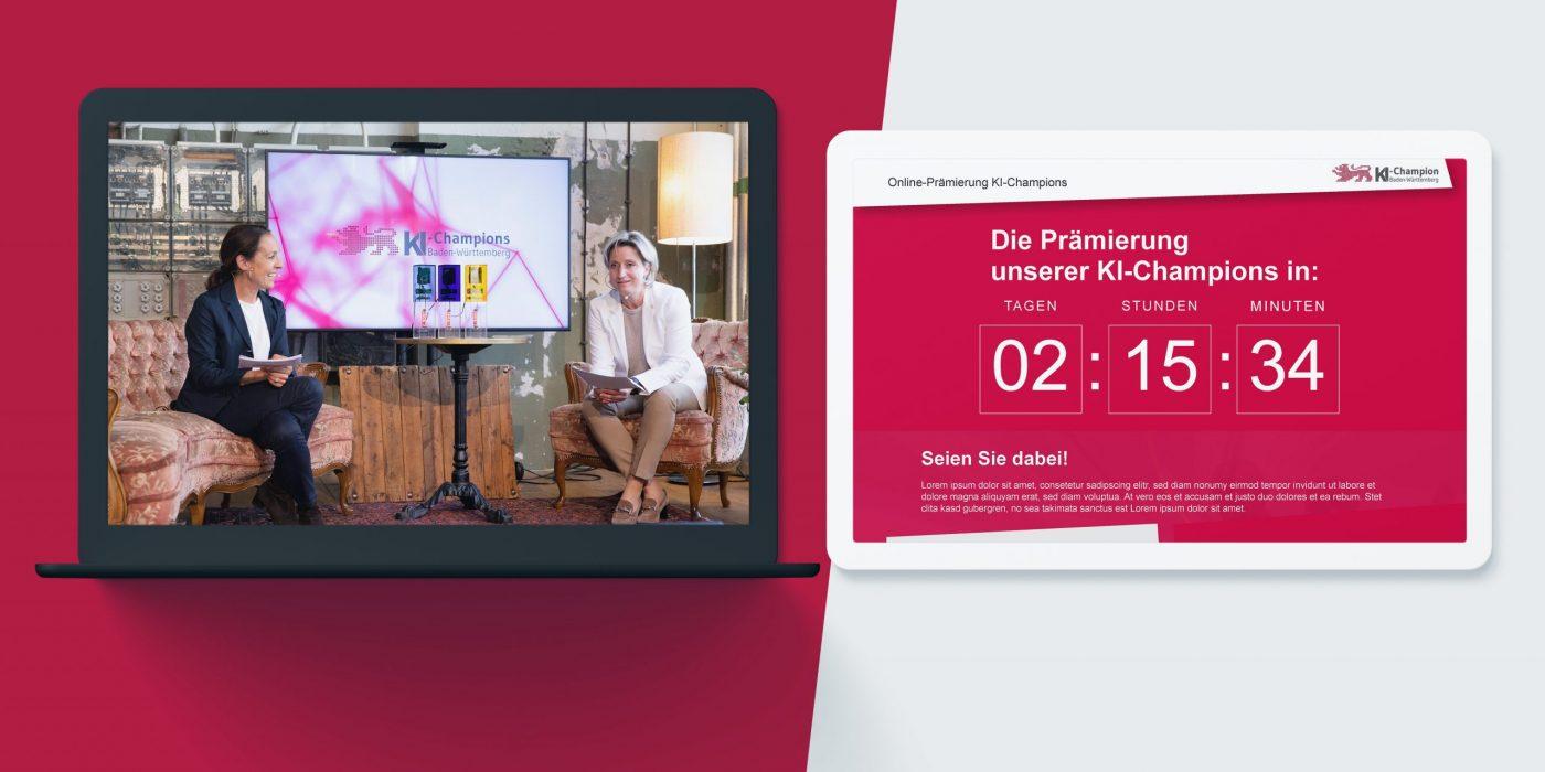 KI-Champions als digitales Event mit Liveübertragung